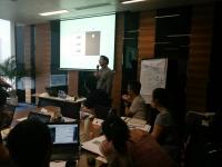 钟滔老师2016年7月18日为深圳易联支付讲授《创新思维问题分析与解决》课程