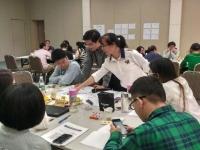 2016年10月18日钟滔老师为广东溢达纺织有限公司讲授《思维导图在职场中的应用》课程
