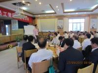 文彬老师9月28日为扬州农行中年员工讲授《营销训练班》课程