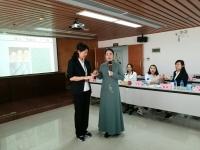 2016年11月3日韦娜老师河源烟草局讲授《职业健康管理》课程