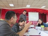2017年4月15号肖振峰老师为巨江电源科技有限公司讲授《项目管理之实战工作坊》
